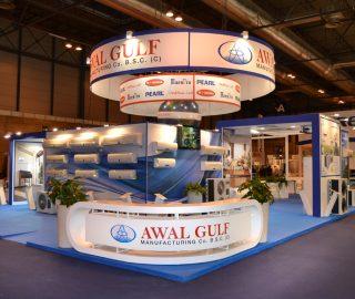 Stand empresarial para Awal Gulf