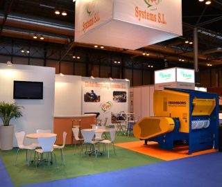 Stand diseño Global Recycling Systems en Tecma